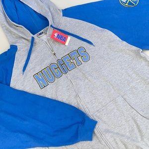 NBA Denver Nuggets Zip Hoodie Embroidered Details